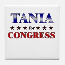 TANIA for congress Tile Coaster