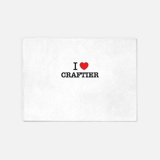 I Love CRAFTIER 5'x7'Area Rug