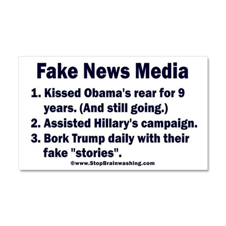 Why label fake news? Car Magnet 20 x 12