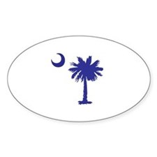 Palmetto Tree/Crescent Moon Decal