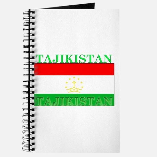 Tajikistan Tajikistani Flag Journal