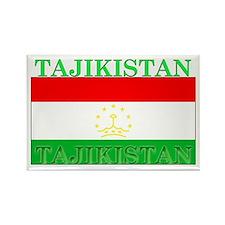 Tajikistan Tajikistani Flag Rectangle Magnet