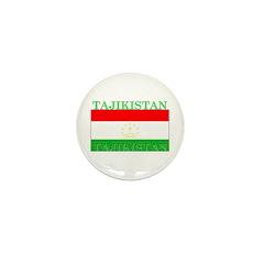 Tajikistan Tajikistani Flag Mini Button (10 pack)