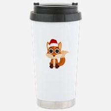 Christmas Fox Travel Mug
