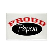 Proud Papou Rectangle Magnet