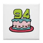 94th Birthday Cake Tile Coaster