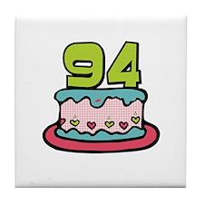 94th Birthday Cake Tile Coaster
