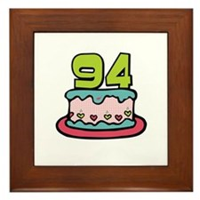 94th Birthday Cake Framed Tile