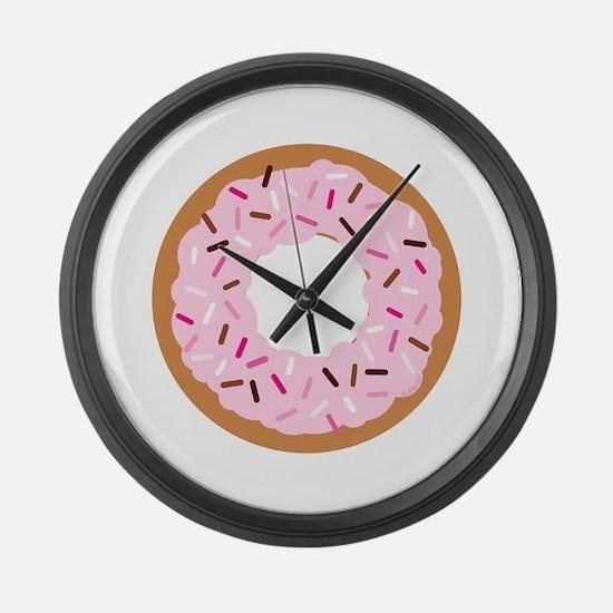 Pink Sprinkles! Large Wall Clock