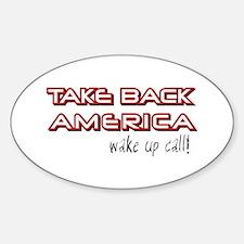 Take Back America Oval Decal