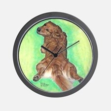 Golden Retriever Frog Dog 2 Wall Clock