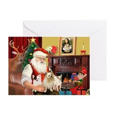 Santa's 3 Chihuahuas Greeting Cards (Pk of 20)