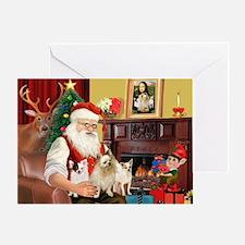 Santa's 3 Chihuahuas Greeting Card