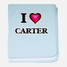 I Love Carter baby blanket