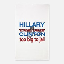 To big to jail Hillary Area Rug