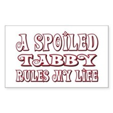Spoiled Tabby Rectangle Decal