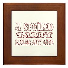 Spoiled Tabby Framed Tile