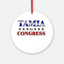 TAMIA for congress Ornament (Round)