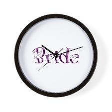 Bride - Purple Blossom Wall Clock
