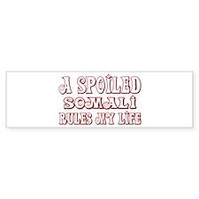 Spoiled Somali Bumper Car Sticker