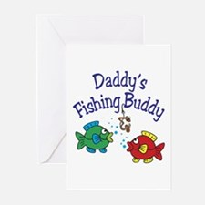 Daddy's Fishing Buddy Greeting Cards (Pk of 10)