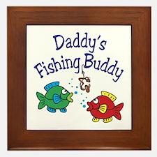 Daddy's Fishing Buddy Framed Tile