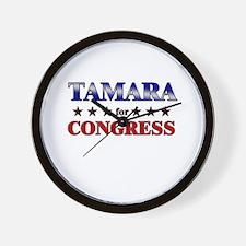 TAMARA for congress Wall Clock