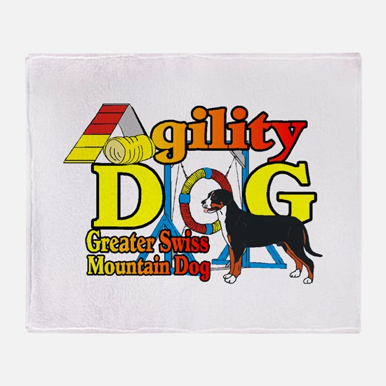 Greater Swiss Agility Throw Blanket