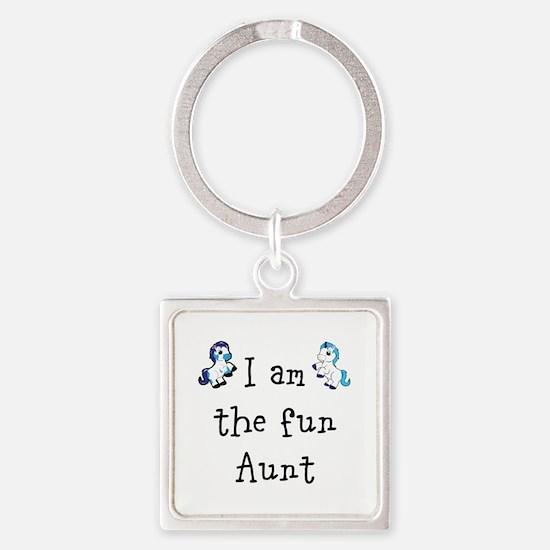Super Aunt Square Keychain