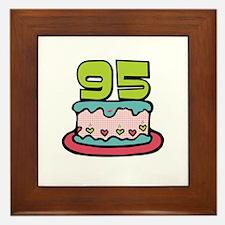 95th Birthday Cake Framed Tile