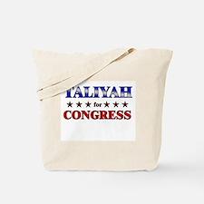 TALIYAH for congress Tote Bag