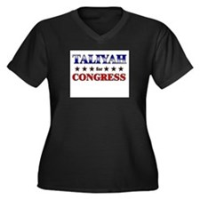 TALIYAH for congress Women's Plus Size V-Neck Dark