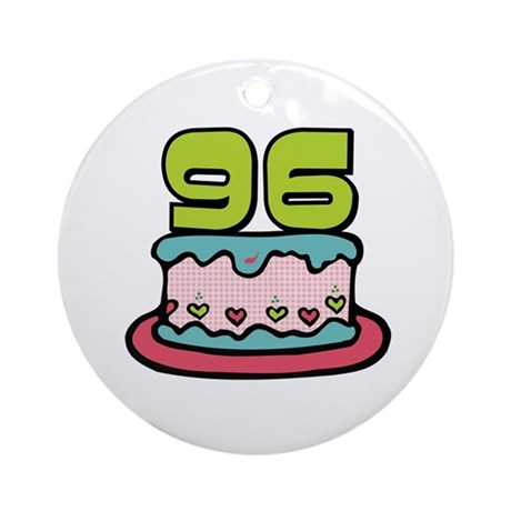 96th Birthday Cake Ornament (Round)