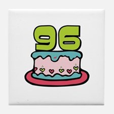 96th Birthday Cake Tile Coaster