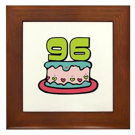 96th Birthday Cake Framed Tile