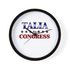 TALIA for congress Wall Clock