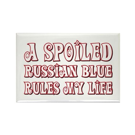 Spoiled Blue Rectangle Magnet