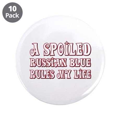 """Spoiled Blue 3.5"""" Button (10 pack)"""