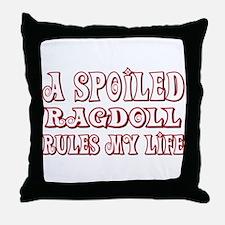 Spoiled Ragdoll Throw Pillow