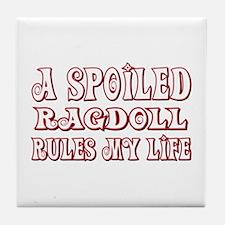 Spoiled Ragdoll Tile Coaster