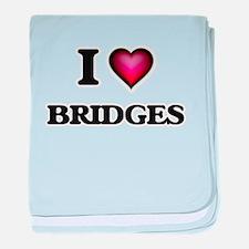 I Love Bridges baby blanket