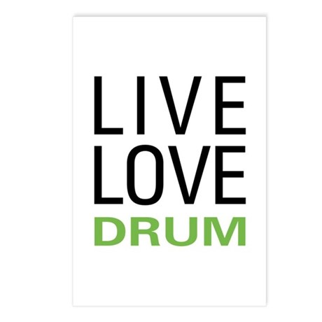 Live Love Drum Postcards (Package of 8)