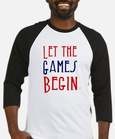 Let the Games Begin (red & blue) Baseball Jersey
