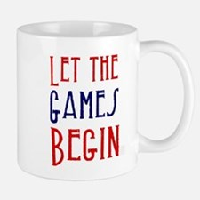 Let the Games Begin (red & blue) Mugs