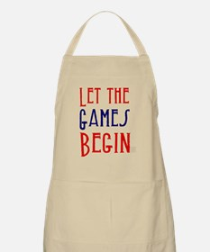 Let the Games Begin (red & blue) Apron