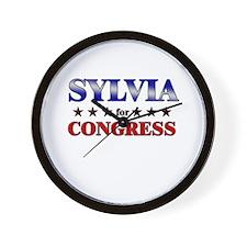 SYLVIA for congress Wall Clock