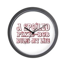Spoiled Pixie-Bob Wall Clock