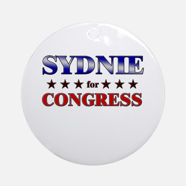SYDNIE for congress Ornament (Round)