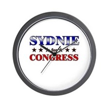 SYDNIE for congress Wall Clock