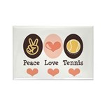 Peace Love Tennis Rectangle Magnet (10 pack)